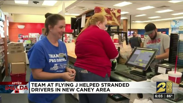 Team at Flying J helped stranded drivers in New Caney area