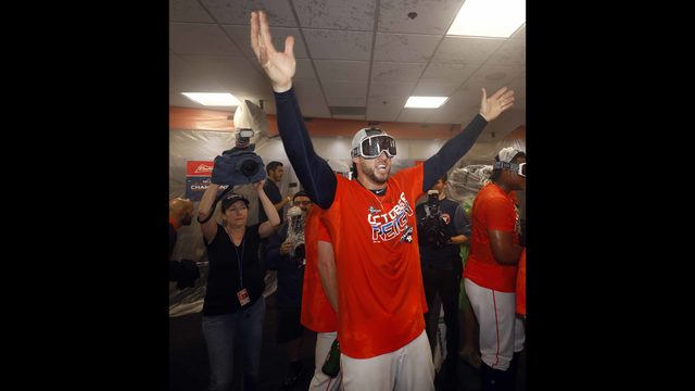 PHOTOS: Astros celebrate third clinch to 2019 AL West Division title