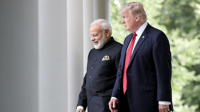 WATCH LIVE: President Trump arrives in Houston, due to attend 'Howdy Modi' rally