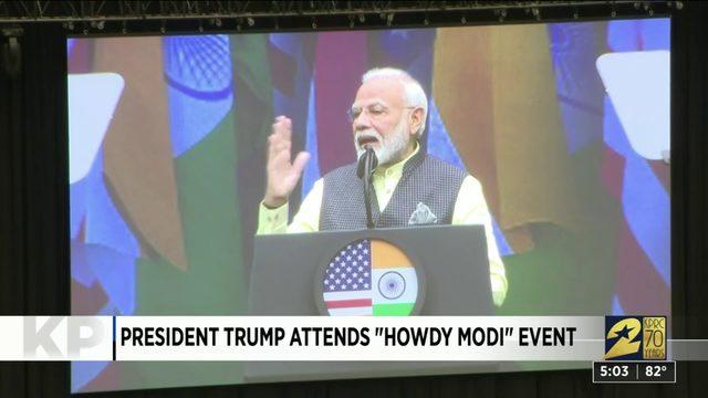 "President Trump Attends ""Howdy Modi"" Event"