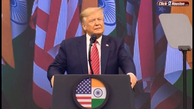 WATCH LIVE: President Trump joins India's PM at 'Howdy Modi' rally