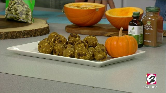 Celebrate the first day of fall with No Bake Pumpkin Protein Bites |…