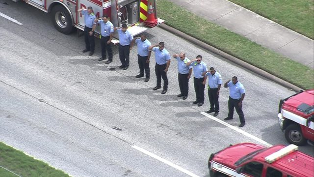 LIVE: Procession held for HFD firefighter, Kenneth Stavinoha, who died…