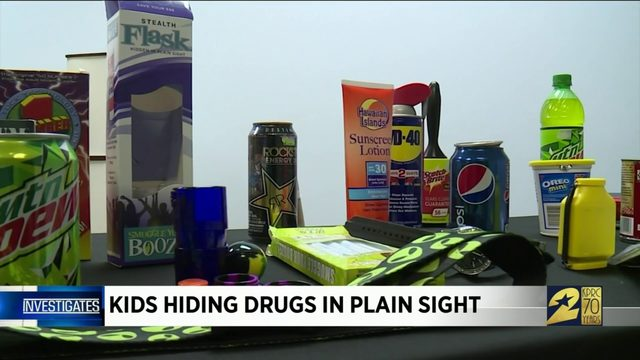 Kids hiding drugs in plain sight