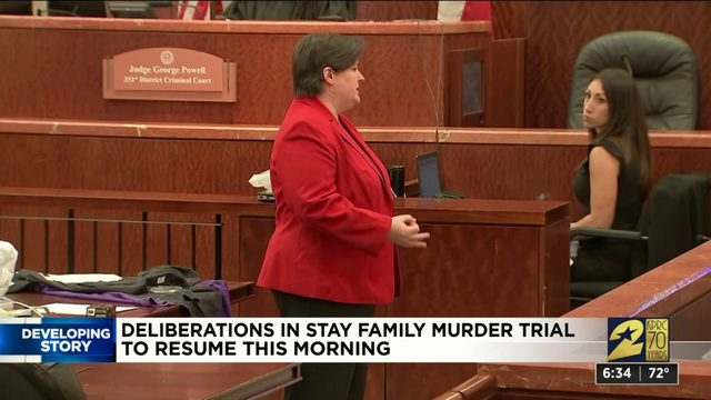 Deliberations in Stay family trial continues