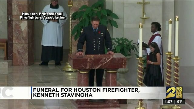 Houston firefighter Kenneth Stavinoha who died on duty laid to rest Thursday