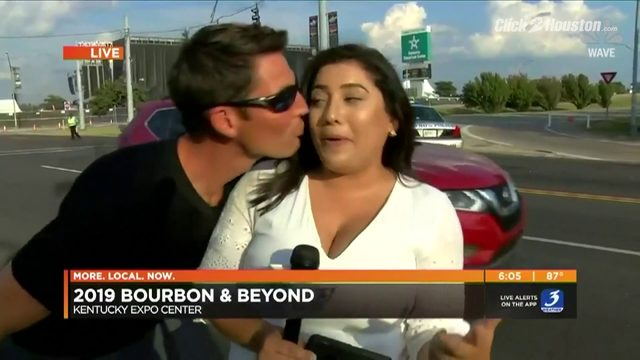 Man who kissed reporter identified, charged with harassment