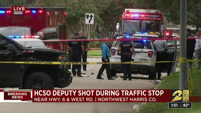 HCSO deputy shot during traffic stop in northwest Harris County, sheriff says
