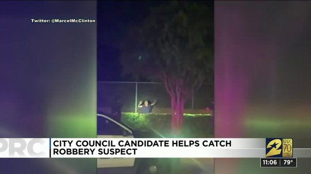 Houston City Council hopeful chases robbery suspect who tried to stab him