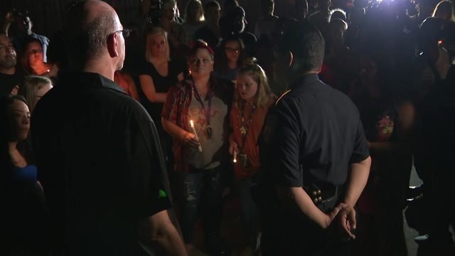 'He was an angel': Community patrolled by slain deputy gathers for vigil