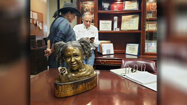 'It's come full circle': Sculpture of Maleah Davis gifted to Texas EquuSearch
