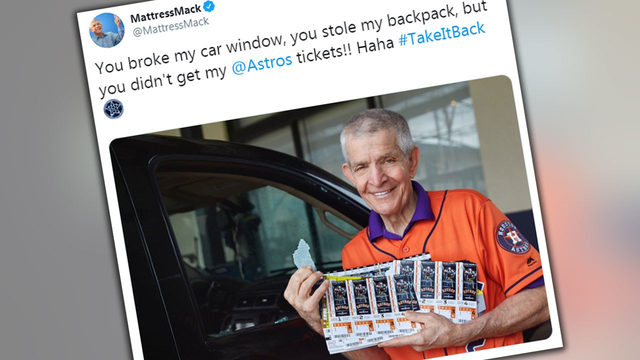 'Haha': Mattress Mack laughs off break-in after thieves miss Astros tickets