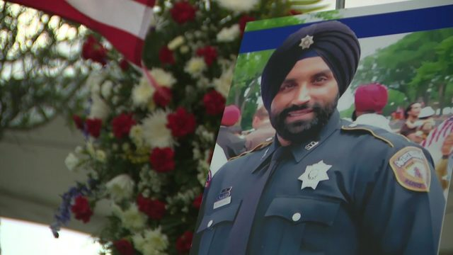 Mourners reflect on positive life lived by fallen Deputy Sandeep Dhaliwal