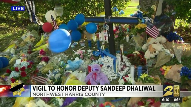 Vigil held to honor Deputy Sandeep Dhaliwal