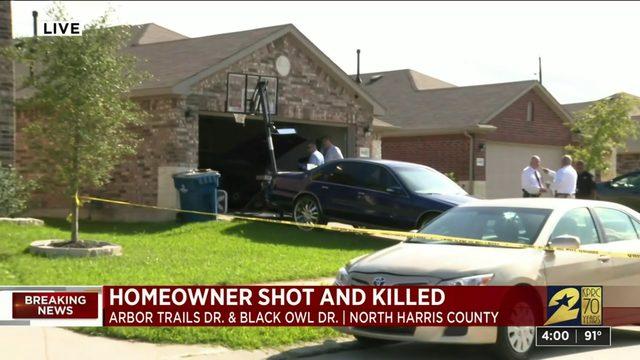 Homeowner shot and killed