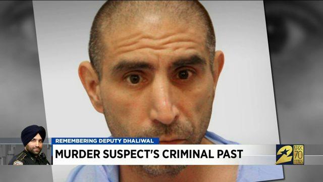 Murder suspect's criminal past