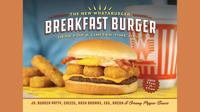 Whataburger releases new twist on breakfast: The Breakfast Burger
