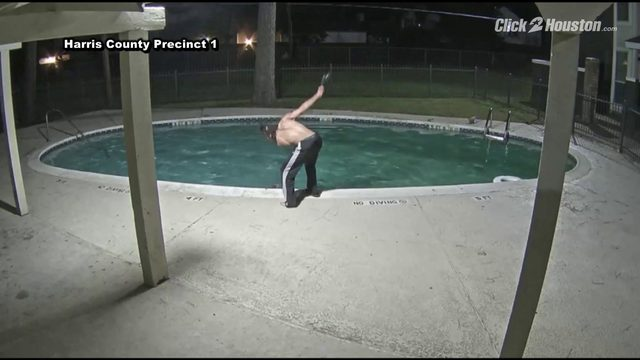 WARNING: Disturbing video shows man torturing cat at apartment complex pool