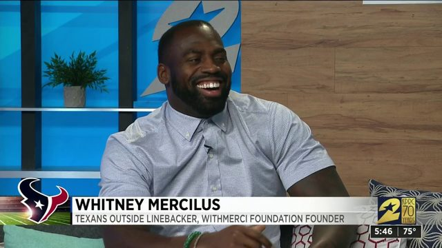 Whitney Mercilus stops by the KPRC 2 studio