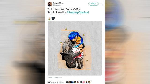 Powerful cartoon memorializes Deputy Dhaliwal's compassion