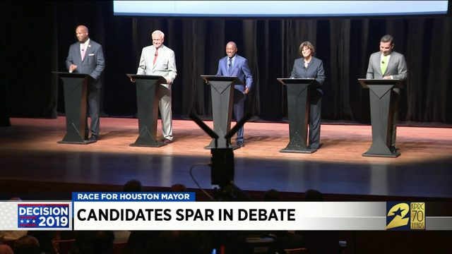 Candidates spar in debate