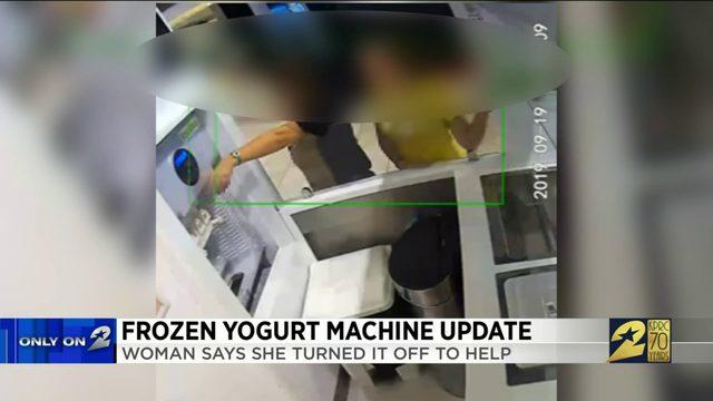 Frozen yogurt machine update