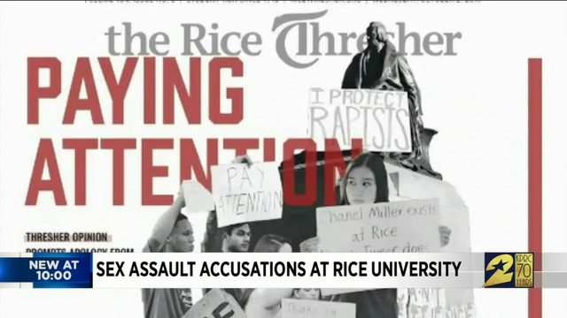 Sex assault accusations at Rice University