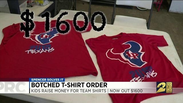 Spencer Solves It: Kids raise money for team shirts