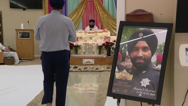 Prayers, tributes held for fallen Harris County Deputy Dhaliwal