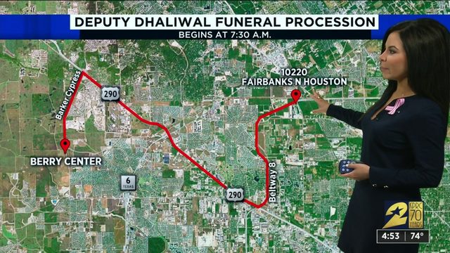 Traffic to be affected by Deputy Sandeep Dhaliwal's funeral procession