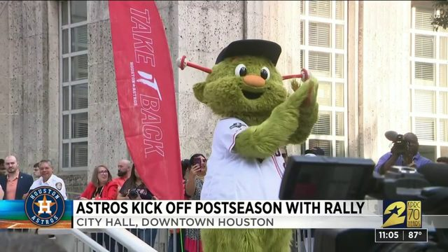 Houston Astros get ready for start of playoffs with rally at City Hall