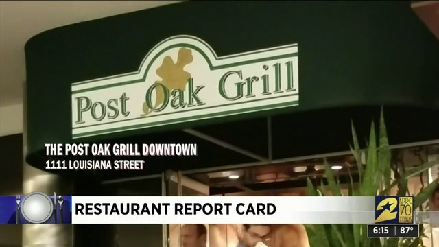 Restaurant Report Card: Oct. 3, 2019