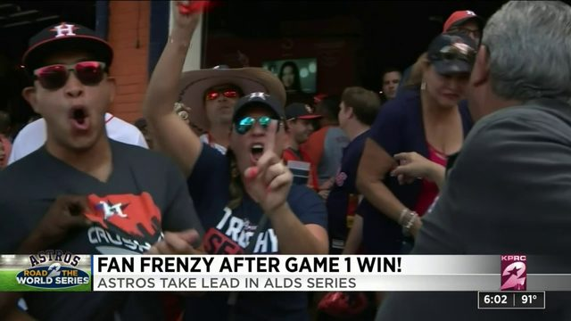 Fan frenzy after Game 1 win
