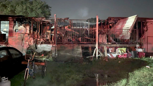 Woman killed in north Harris County mobile home fire