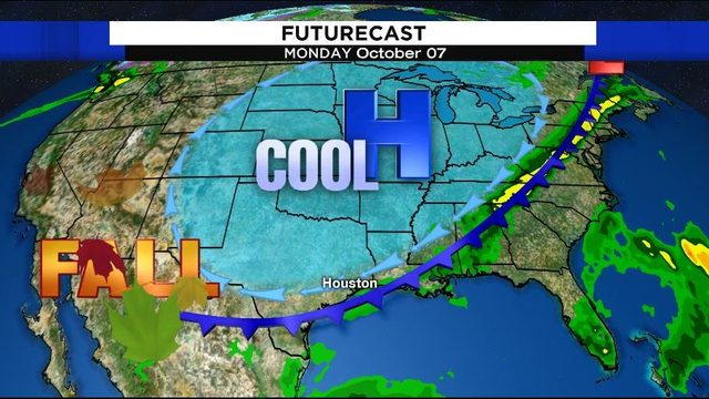 Record heat persists before first fall cold front arrives Monday