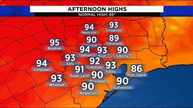 Unseasonably warm weather for Houston Sunday
