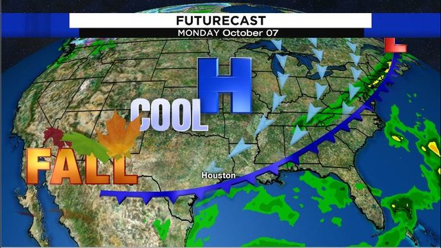First fall front for Houston arrives Monday