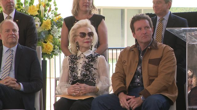 Jones Plaza renamed after Houston socialite Lynn Wyatt after she made…