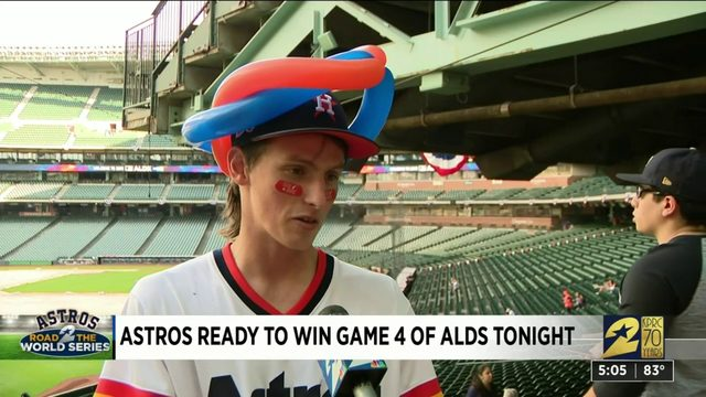 Astros fans head to Minute Maid for ALDS Game 4 watch party