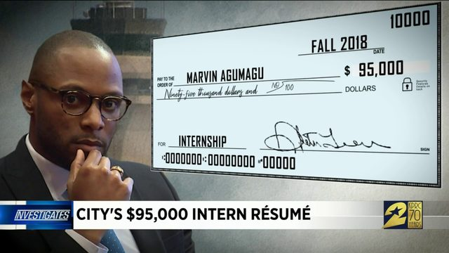 City's $95,000 intern resume