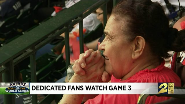 Dedicated fans watch Game 3