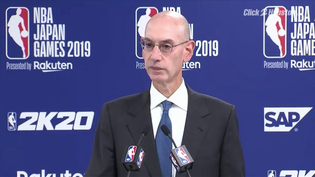 NBA commissioner talks about fallout from Rockets GM tweet