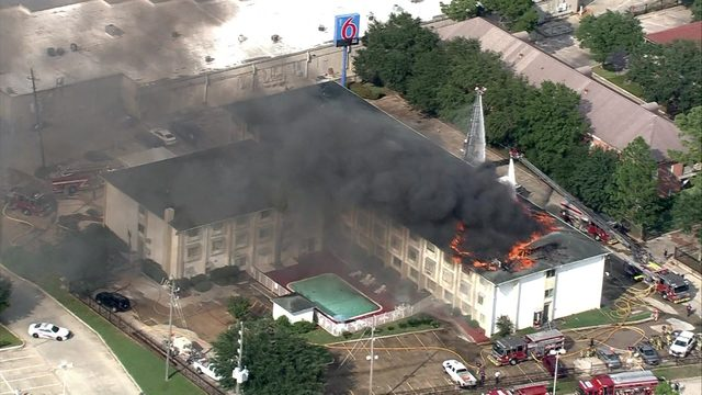 7 hurt in massive 3-alarm Motel 6 fire near Spring on Wednesday