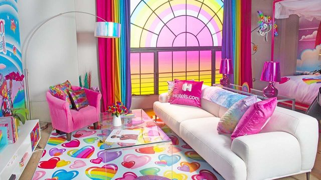 This is the Lisa Frank room you never knew you always wanted to sleep in