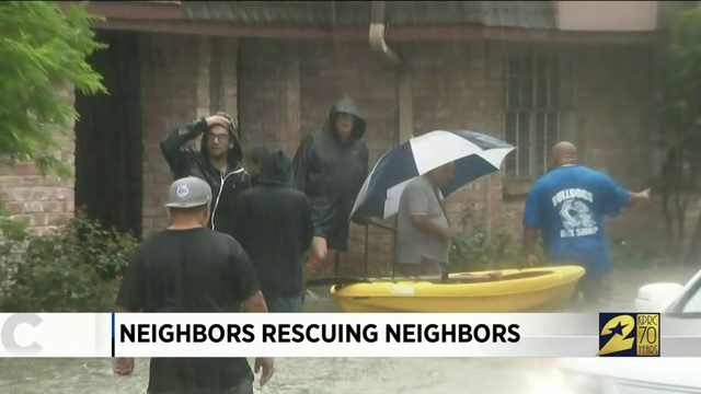 Neighbors helping neighbors in the time of the storm