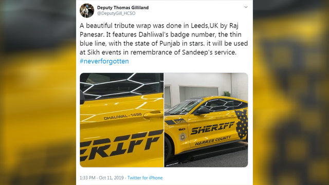 UK man honors Deputy Sandeep Dhaliwal with custom sports car