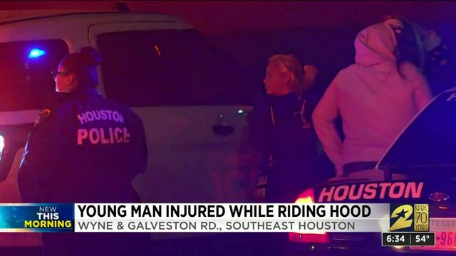 Juvenile hurt after early morning 'hood-surfing' in southeast Houston…