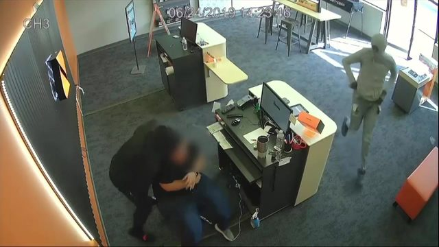 Serial phone store robbers on the run
