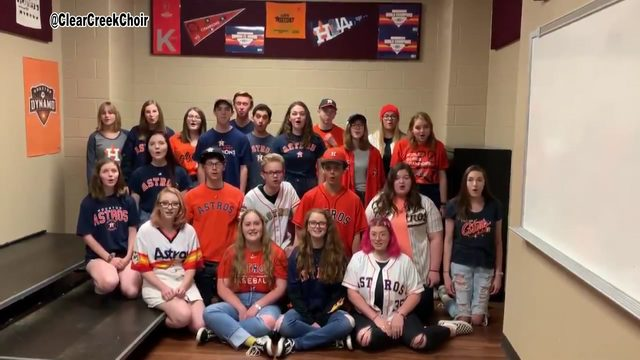 'Go Go Astros': Clear Creek Choir adds new twist to Mack Hayes' team rally song