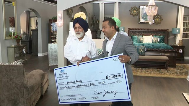 Exclusive Furniture presents Deputy Dhaliwal's family with donation…
